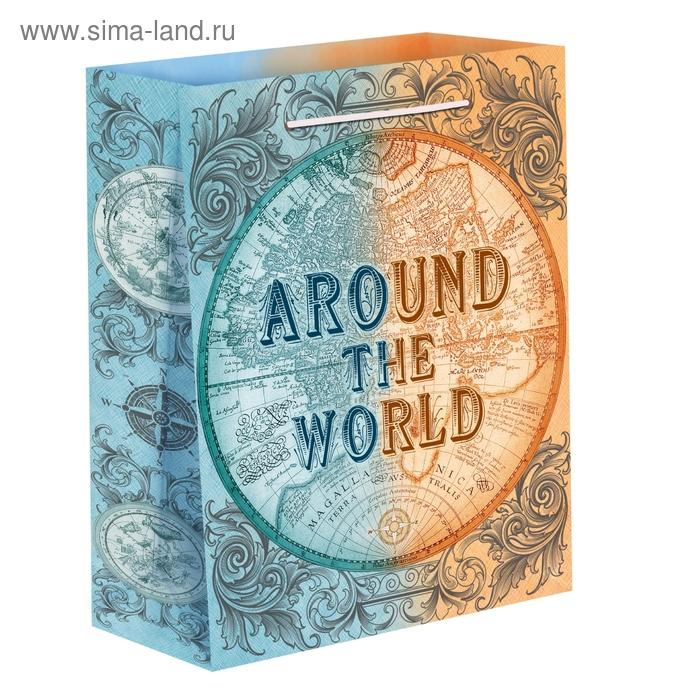 Пакет ламинат вертикальный «Вокруг света», MS 18 х 23 х 8 см