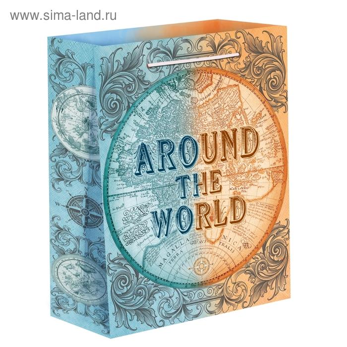 Пакет ламинат вертикальный «Вокруг света», L 40 х 31 х 9 см