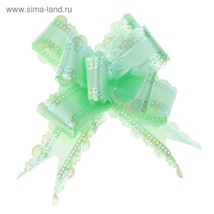 """Бант-бабочка №3 """"Ажур"""", цвет зелёный"""