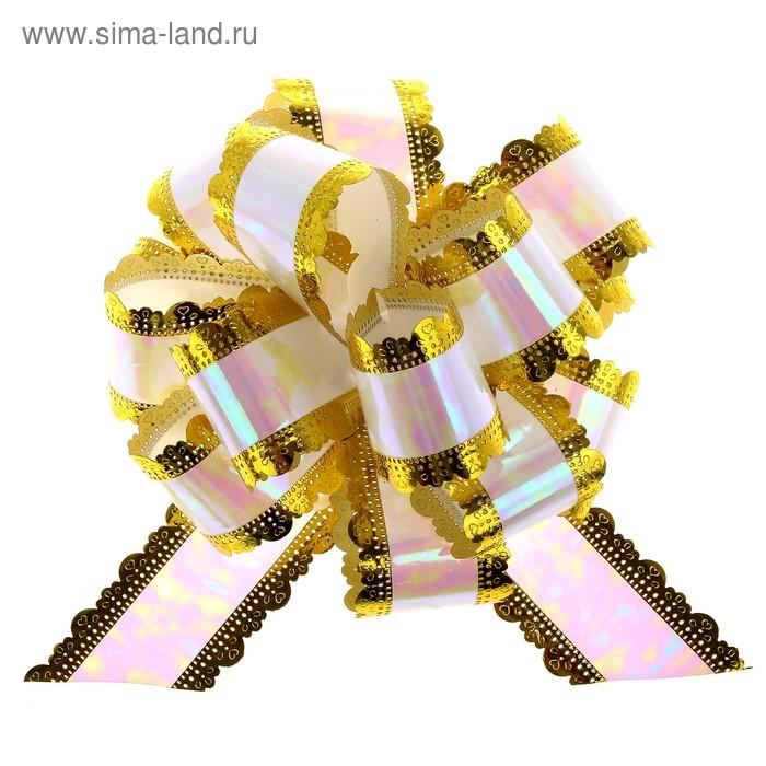 "Бант-шар №5 ""Ажур"", цвет белый"