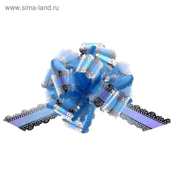 """Бант-шар №3 """"Ажур"""", цвет голубой"""