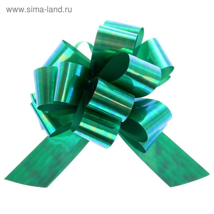 Бант-шар №3 перламутровый, цвет зелёный