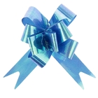 Бант-бабочка №1,2 перламутровый, цвет голубой