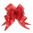 """Бант-бабочка №3 """"Золотые полосы"""", цвет красный, d=7-8 см"""