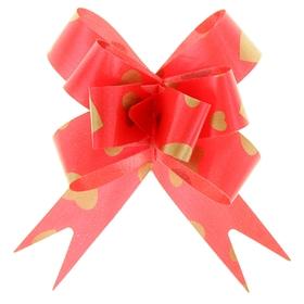 Бант-бабочка №1,8 'Золотые сердца', цвет красный Ош