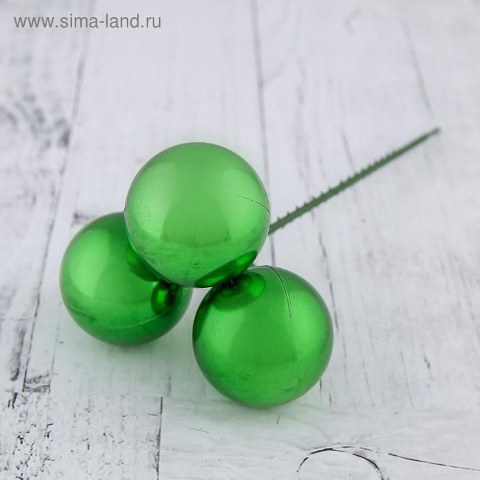 "Декор новогодний ""Глянцевые шарики на палочке"", d=3, микс"