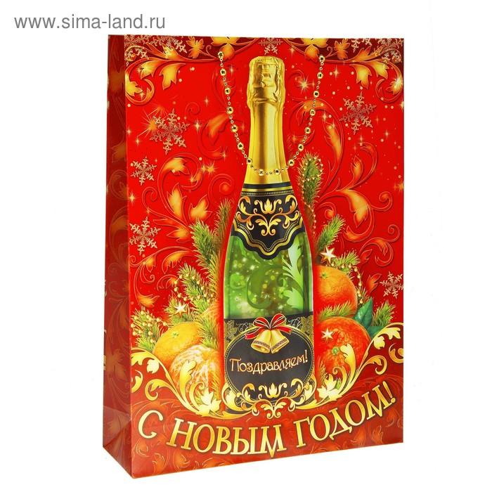 "Пакет ламинат MS ""Шампанское"" тиснение"