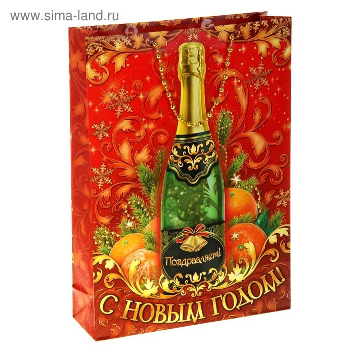 Пакет ламинат L Шампанское тиснение, 160 г/м2