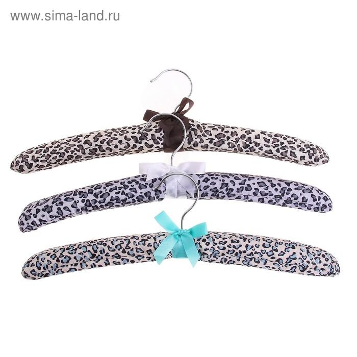 "Вешалка мягкая ""Сафари. Снежный леопард"", размер 44-46, цвет МИКС"