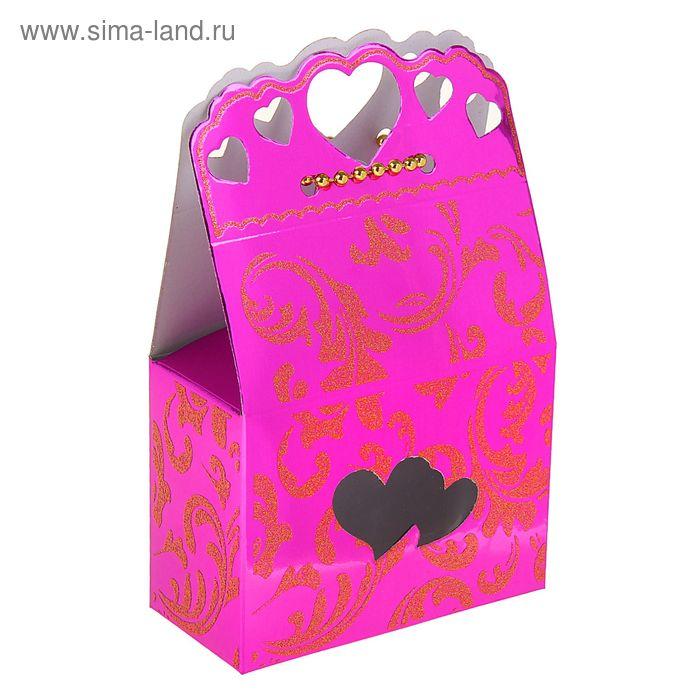 """Коробка сборная """"Сердце для тебя"""", цвет малиновый"""