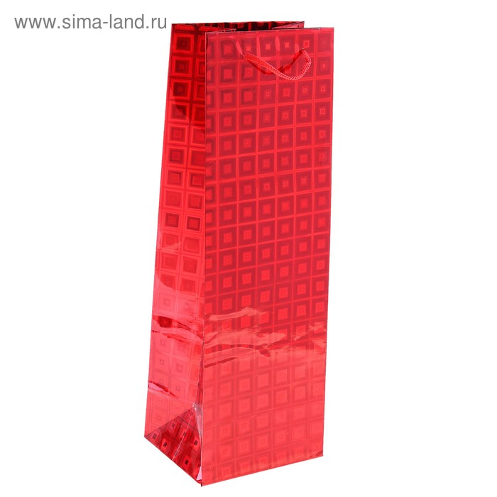 Пакет голографический, красный, рисунок МИКС, 8,5 х 12 х 35 см