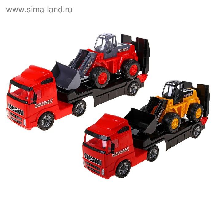 Автовоз с трактором, цвета МИКС