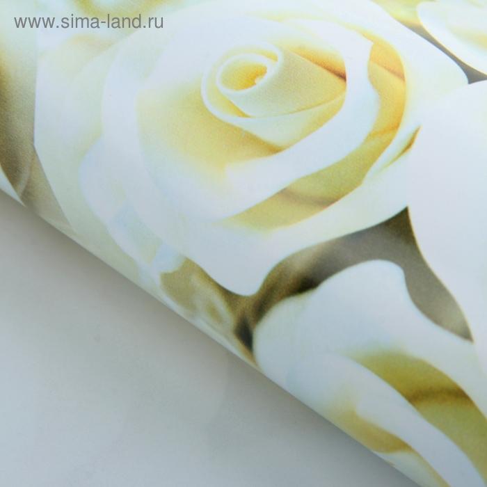 """Бумага упаковочная """"Белые розы"""""""