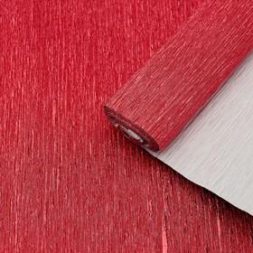 Бумага крепированная с фольгированным эффектом, цвет красный, 50 см х 2,5 м