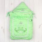 """Конверт меховой """"Бэби Элит"""", рост 62 см, цвет зелёный 12024"""