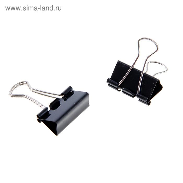 Набор зажимов для бумаг 32 мм (12 шт.), черный