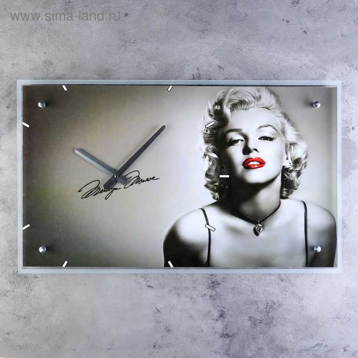 """Часы настенные прямоугольные """"Мэрилин Монро"""", 35х60 см"""