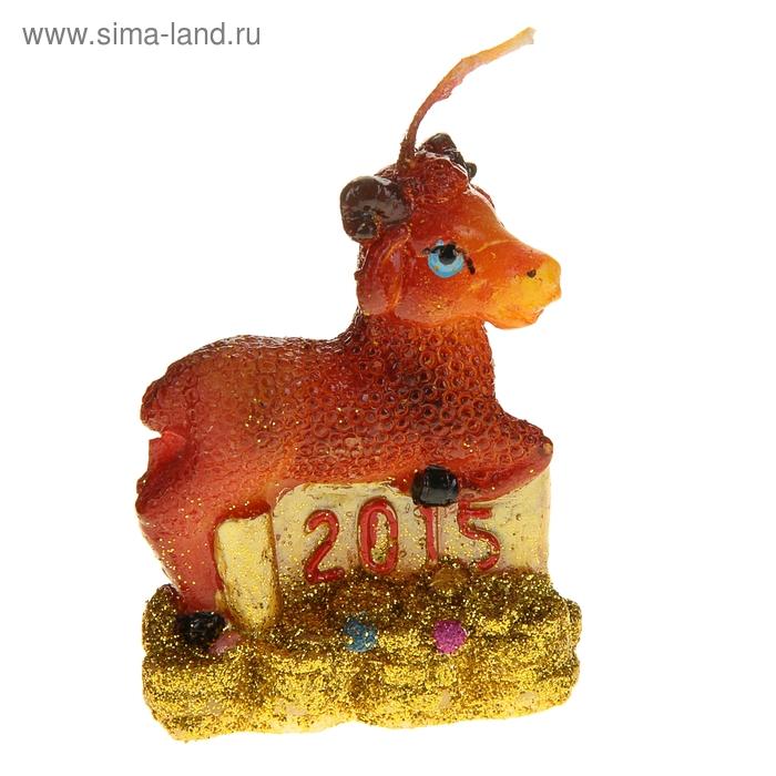 """Свеча воск """"Овца символ года 2015"""""""