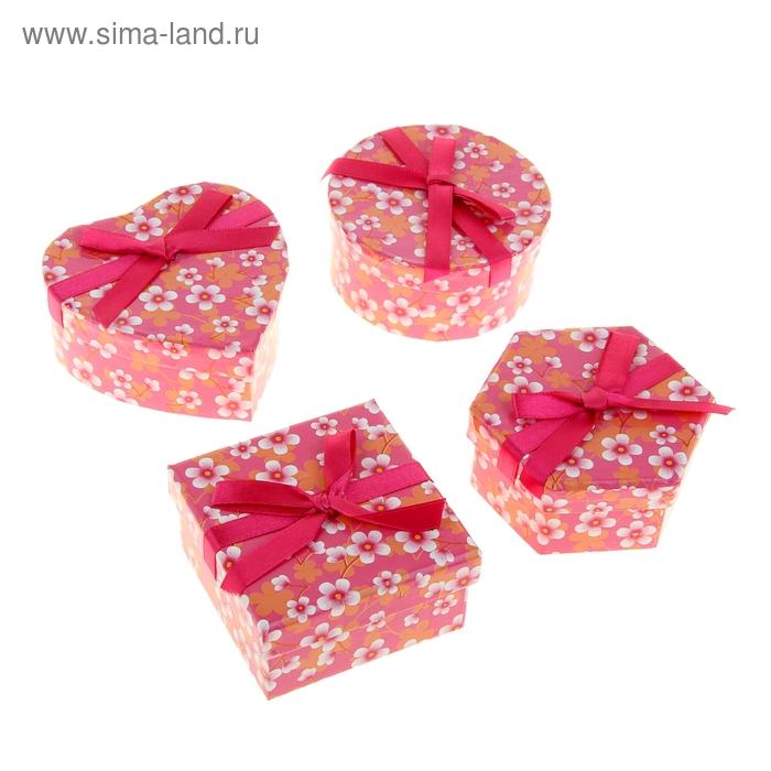 """Набор коробок 4в1 """"Цветущий сад"""", цвет розовый"""