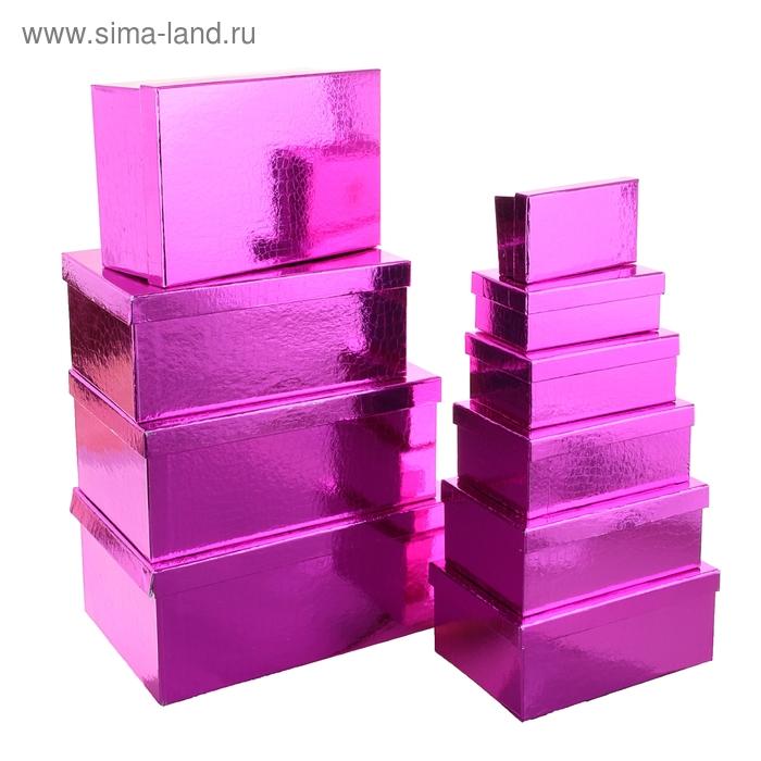 """Набор коробок 10в1 """"Питон"""", цвет малиновый, УЦЕНКА"""