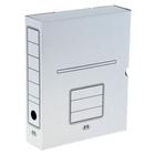 Короб архивный А4, 75мм, микрогофрокартон, картонный клапан, белый
