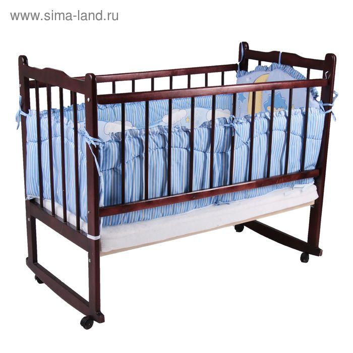 """Бампер """"Ёжик Топа-Топ"""", 4 части (2 части: 45х120 см, 2 части 45х60 см), цвет голубой (арт. 4082)"""