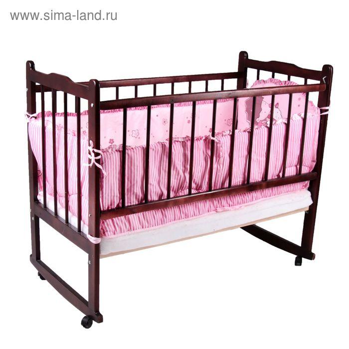 """Бампер """"Ёжик Топа-Топ"""", 4 части (2 части: 45х120 см, 2 части 45х60 см), цвет розовый (арт. 4086)"""