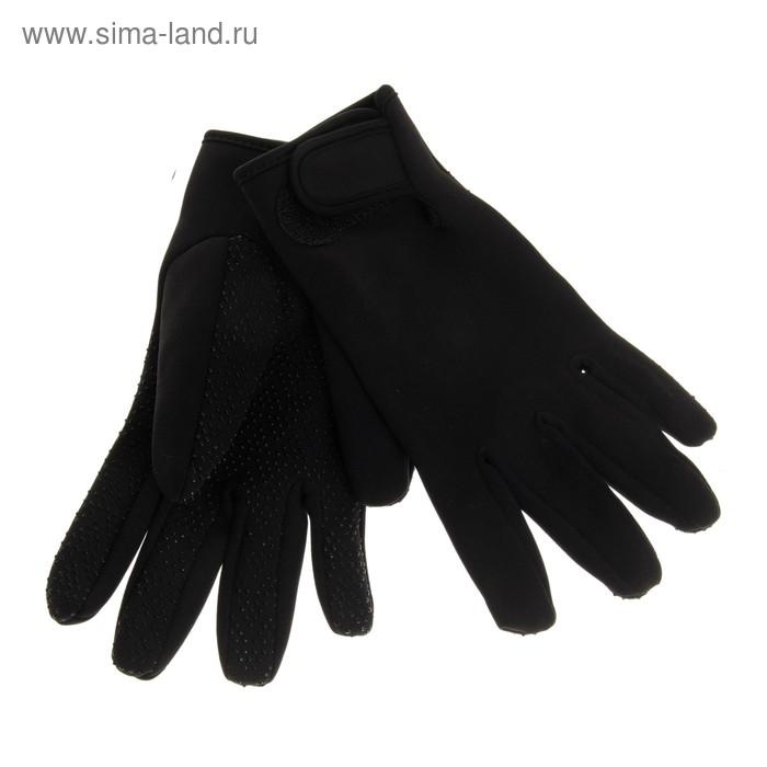 Перчатки спортивные, pазмер M, цвет чёрный