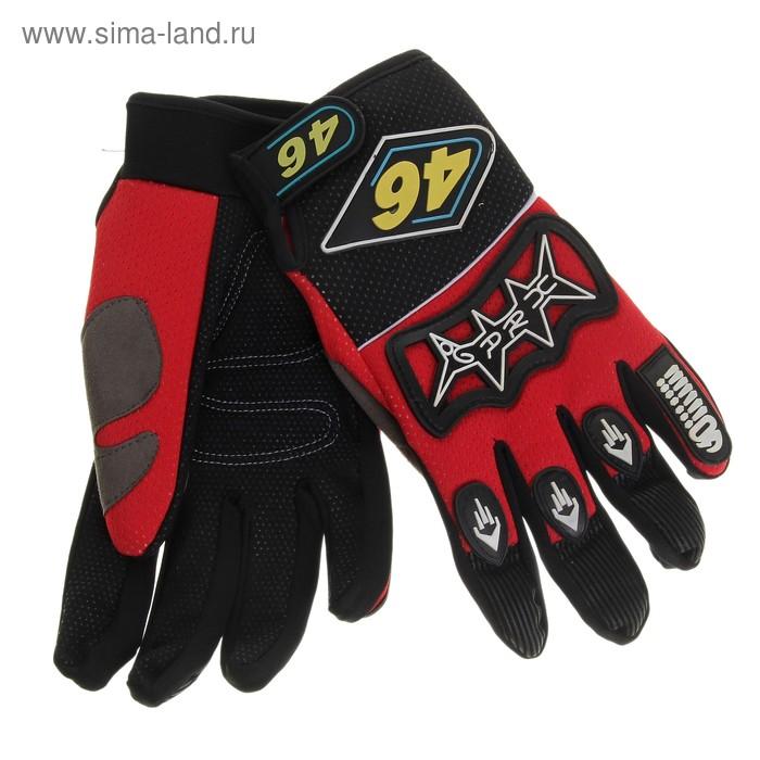 """Перчатки спортивные """"46"""", pазмер M, цвет чёрно-красный"""
