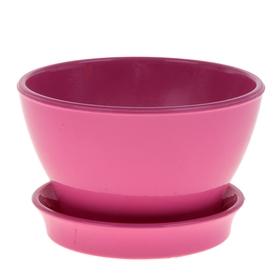 """Кашпо """"Ксения"""" фиалочница, глянец, розовое, 0,5 л"""