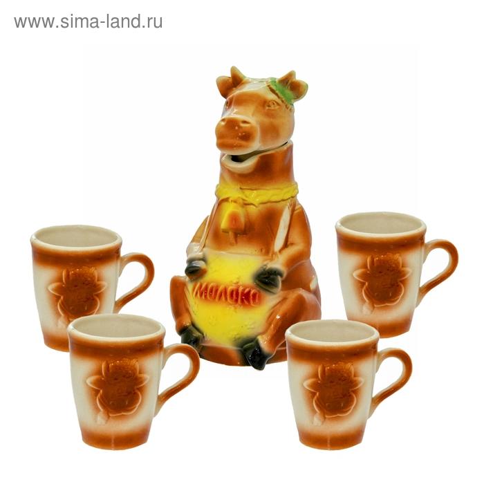 """Набор молочный """"Буренка"""" 5 предметов, 1,5 л"""