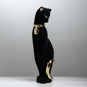 "Копилка ""Кошка Багира с долларом"" флок, большая, булат"