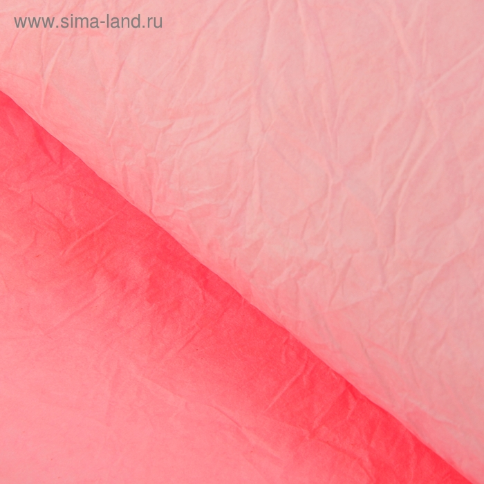 Бумага упаковочная двухсторонняя фактурная, цвет розовый