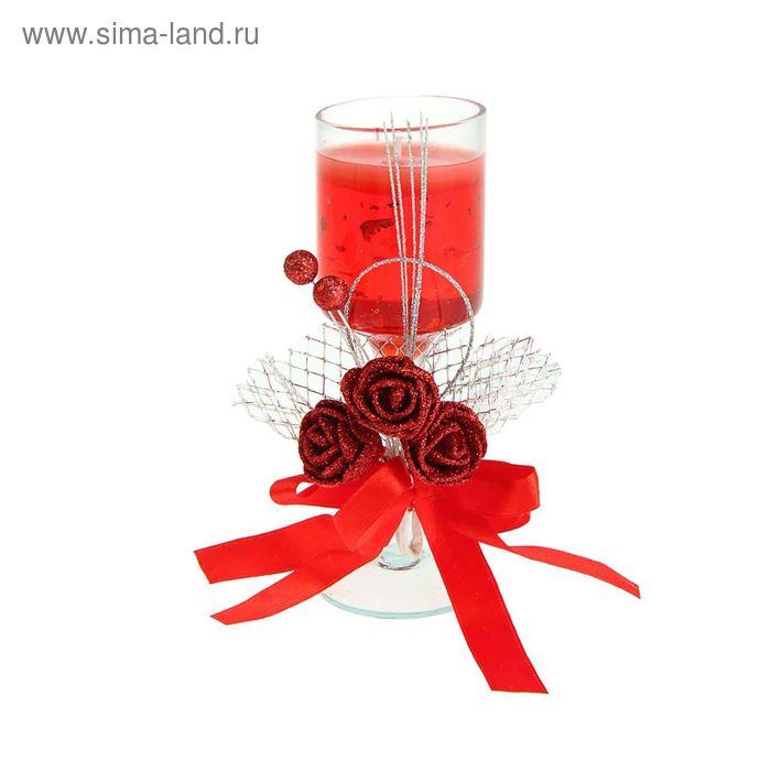 """Свеча гелевая """"Шикарные розы"""", цвет красный"""