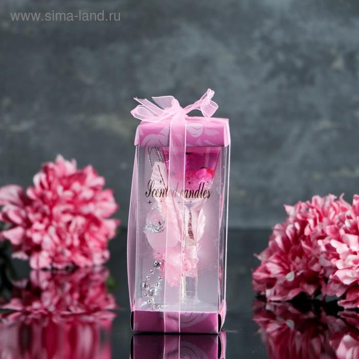 """Свеча гелевая """"Чувственность"""", цвет розовый"""