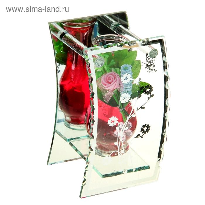 """Свеча гелевая зеркальная """"Роза"""", цвет красный"""