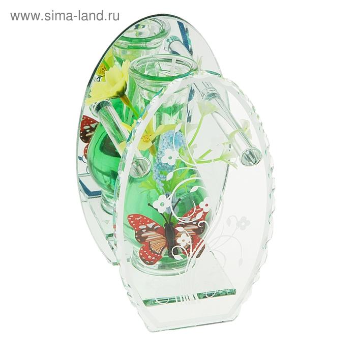 """Свеча гелевая зеркальная """"Бабочка"""", цвет зеленый"""