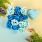 """Набор подарочный """"Цветение"""": мыльные лепестки (набор 12 шт), мыло сувенирное 60 гр, аромат океана"""