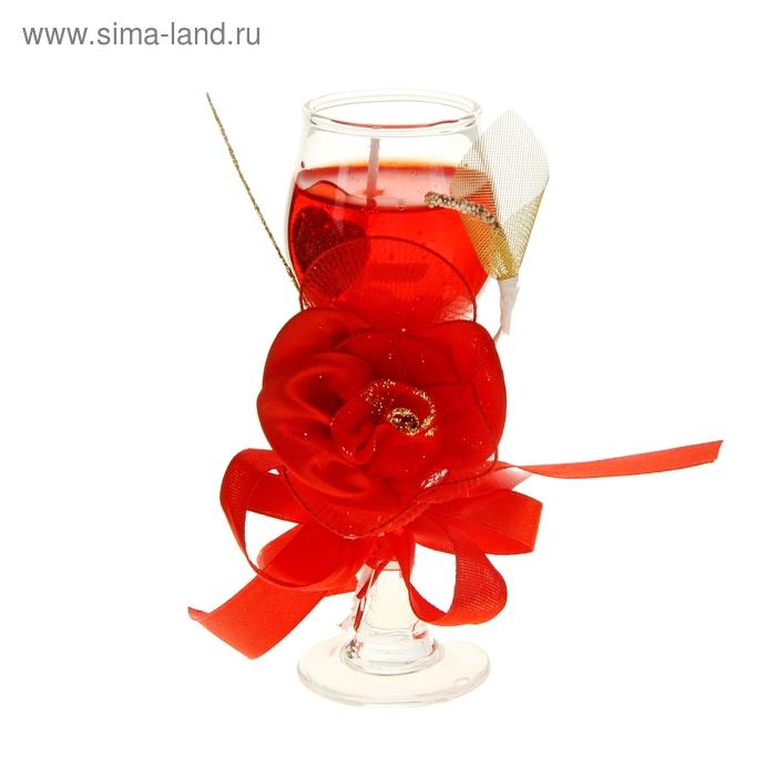 """Свеча гелевая """"Изобилие"""", цвет красный"""