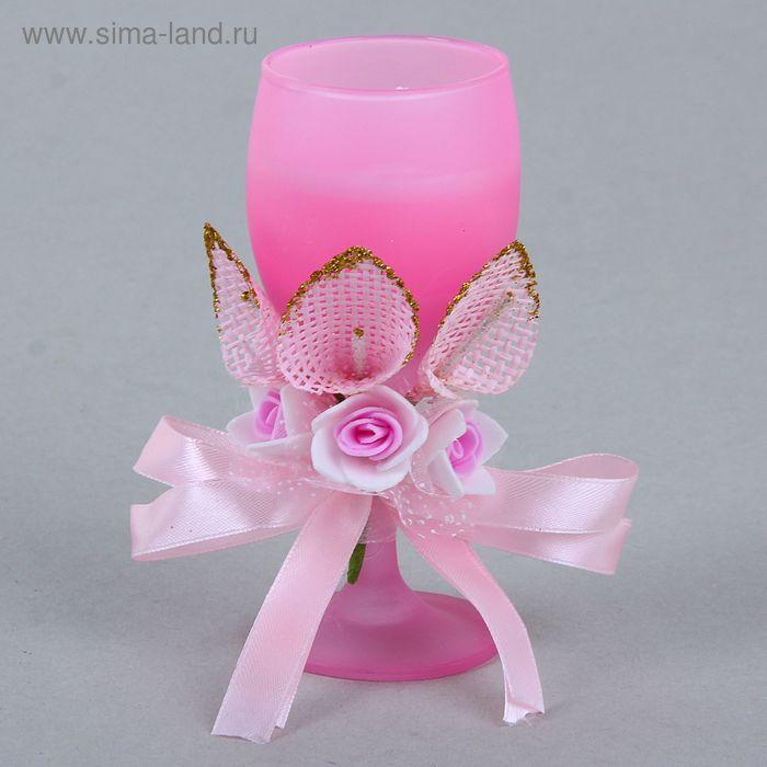 """Свеча восковая """"Букет роз"""", цвет розовый"""