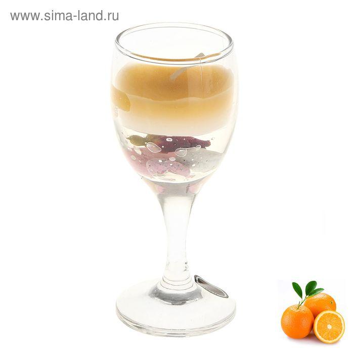 """Свеча восковая+гелевая """"Рюмка"""", аромат апельсин"""