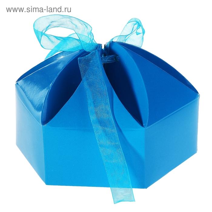 """Коробка сборная """"Мешочек счастья"""", цвет синий"""