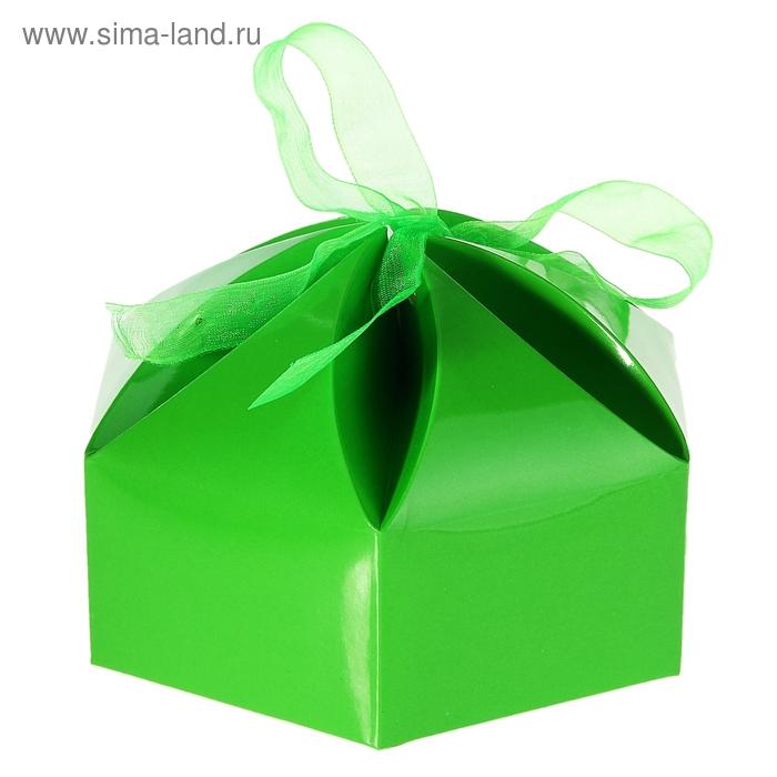 """Коробка сборная """"Мешочек счастья"""", цвет зелёный"""