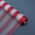 """Сетка """"Серебряные полоски"""", цвет красный, 0,48 х 4,5 м"""