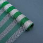"""Сетка """"Серебряные полоски"""", цвет зеленый, 0,48 х 4,5 м"""