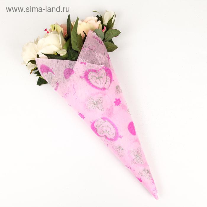 """Флизелин """"Крылья любви"""", цвет светло-розовый"""
