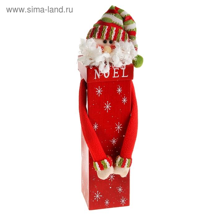 "Новогодняя подарочная коробка ""Дед Мороз"" красная"