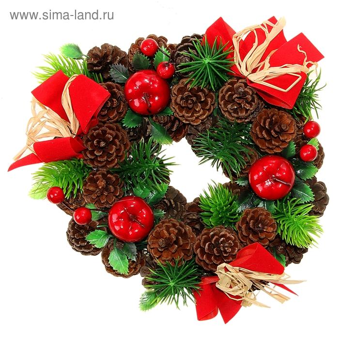 "Венок рождественский ""Шишечки и яблочки"""