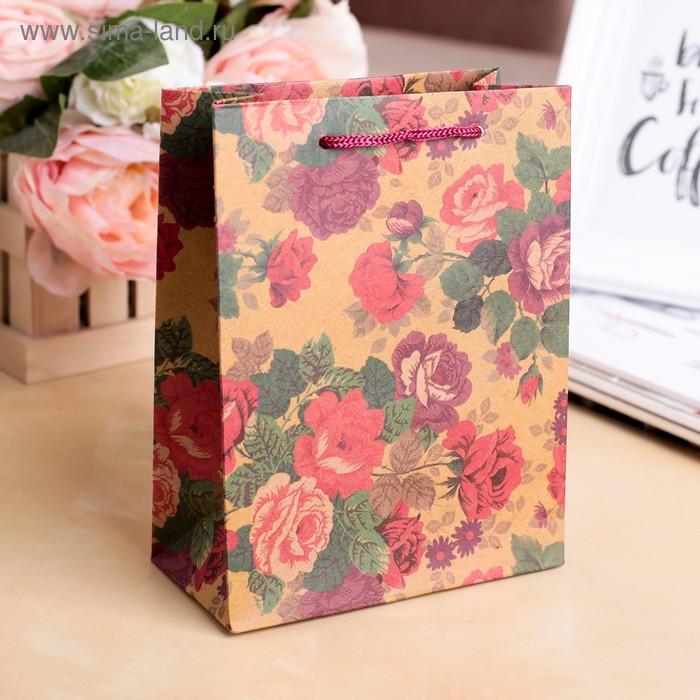 """Пакет крафт """"Многоцветие"""", 14 х 7 х 18 см"""