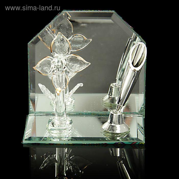 """Сувенир на зеркале с подставкой для ручек """"Цветок"""""""